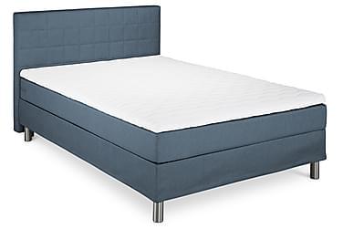 FUNKY Sängpaket 140x200 Sänggavel Quiltad Blå