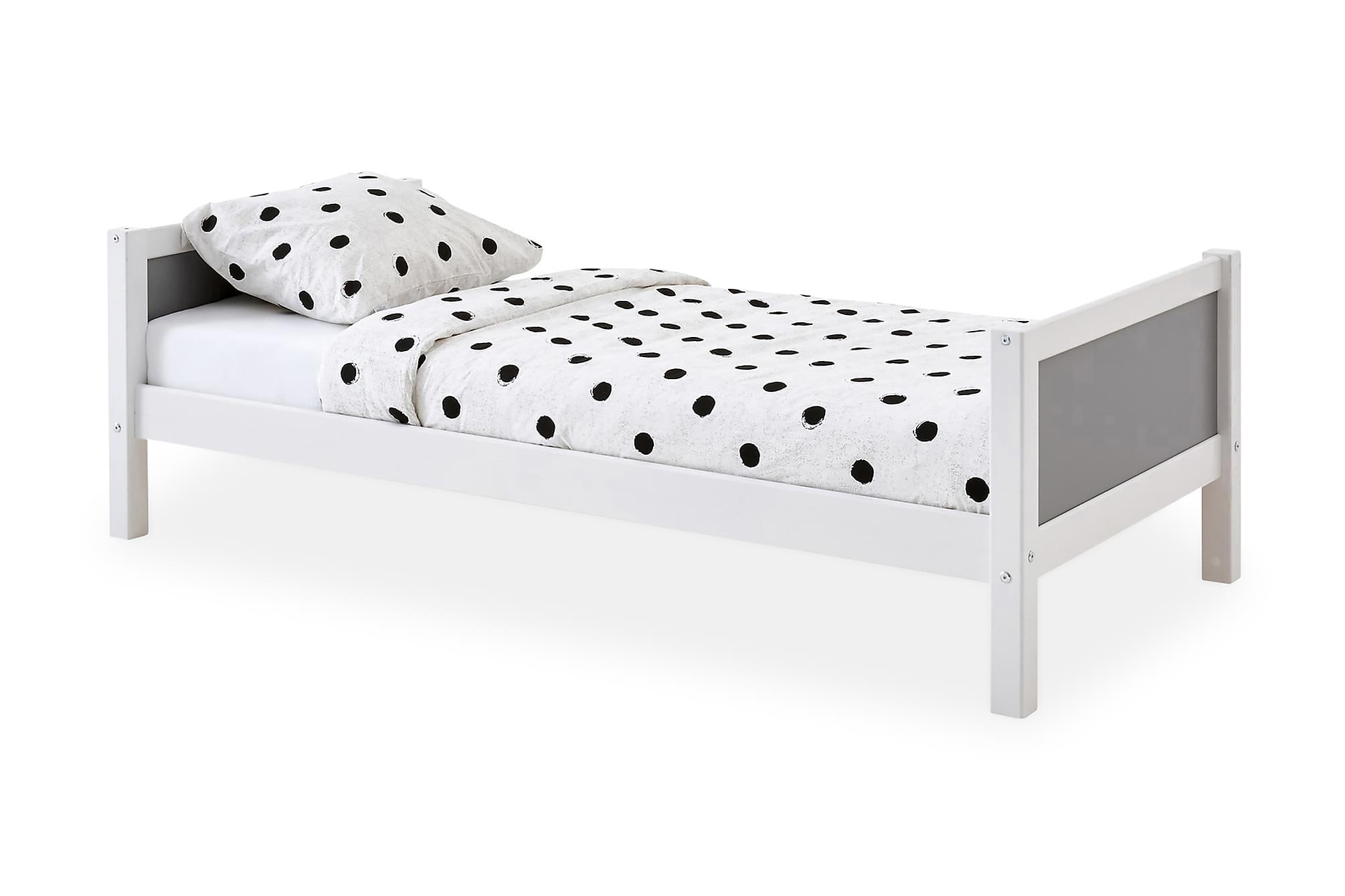 BASIC Säng 90 Grå, Enkelsängar