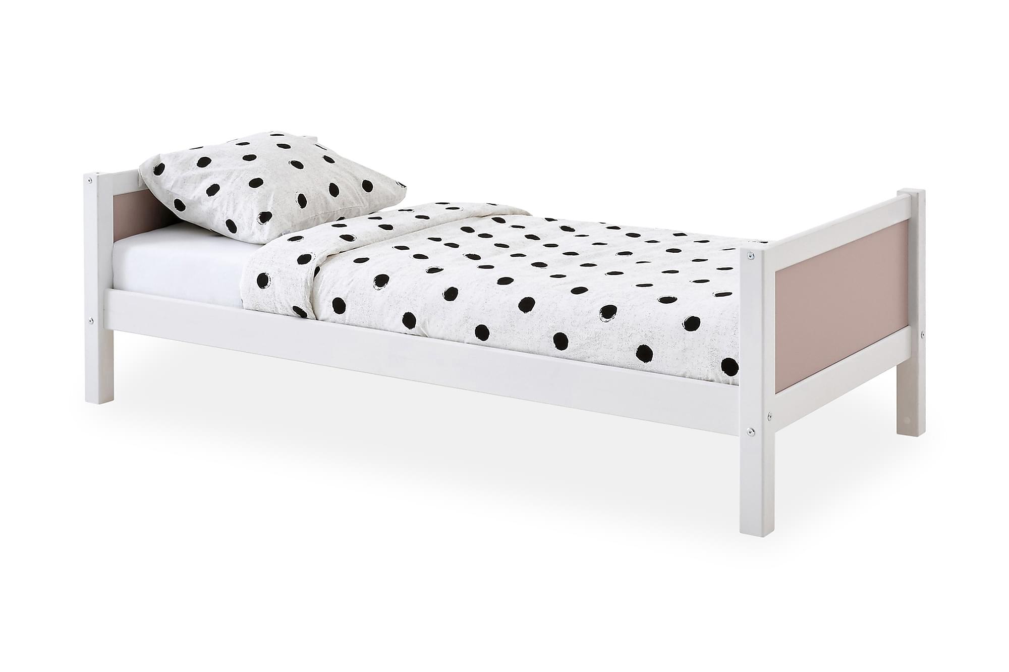 BASIC Säng 90 Rosa, Enkelsängar