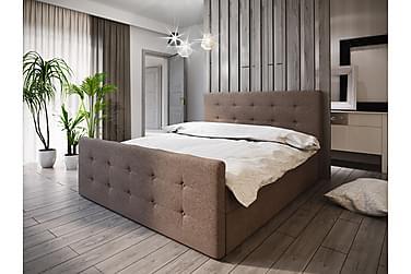 DANNI Sängpaket 160 Knappad Gavel Brun
