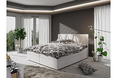MAGDY Sängpaket 140 Mönstrad Gavel Vit