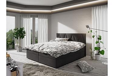 MAGDY Sängpaket 160 Mönstrad Gavel Mörkgrå