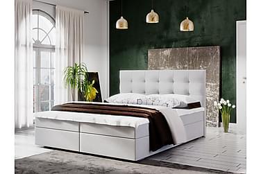 MAGDY Sängpaket 180 Rutmönstrad Gavel Vit