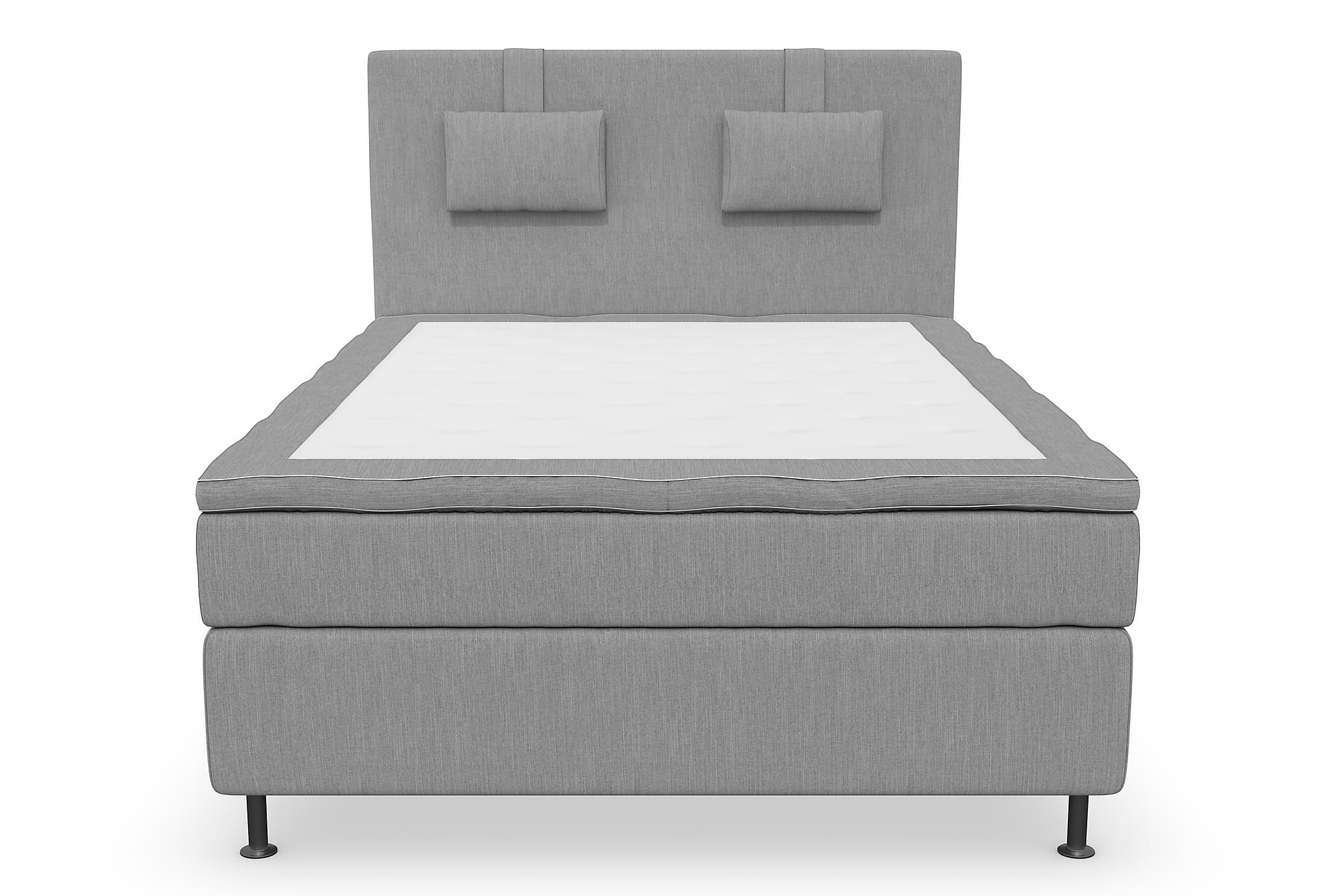 RANGER Kontinentalsäng – Sängpaket 120 Ljusgrå