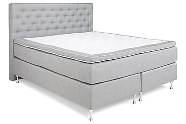 ZOUL Kontinentalsäng - Sängpaket 180 Ljusgrå