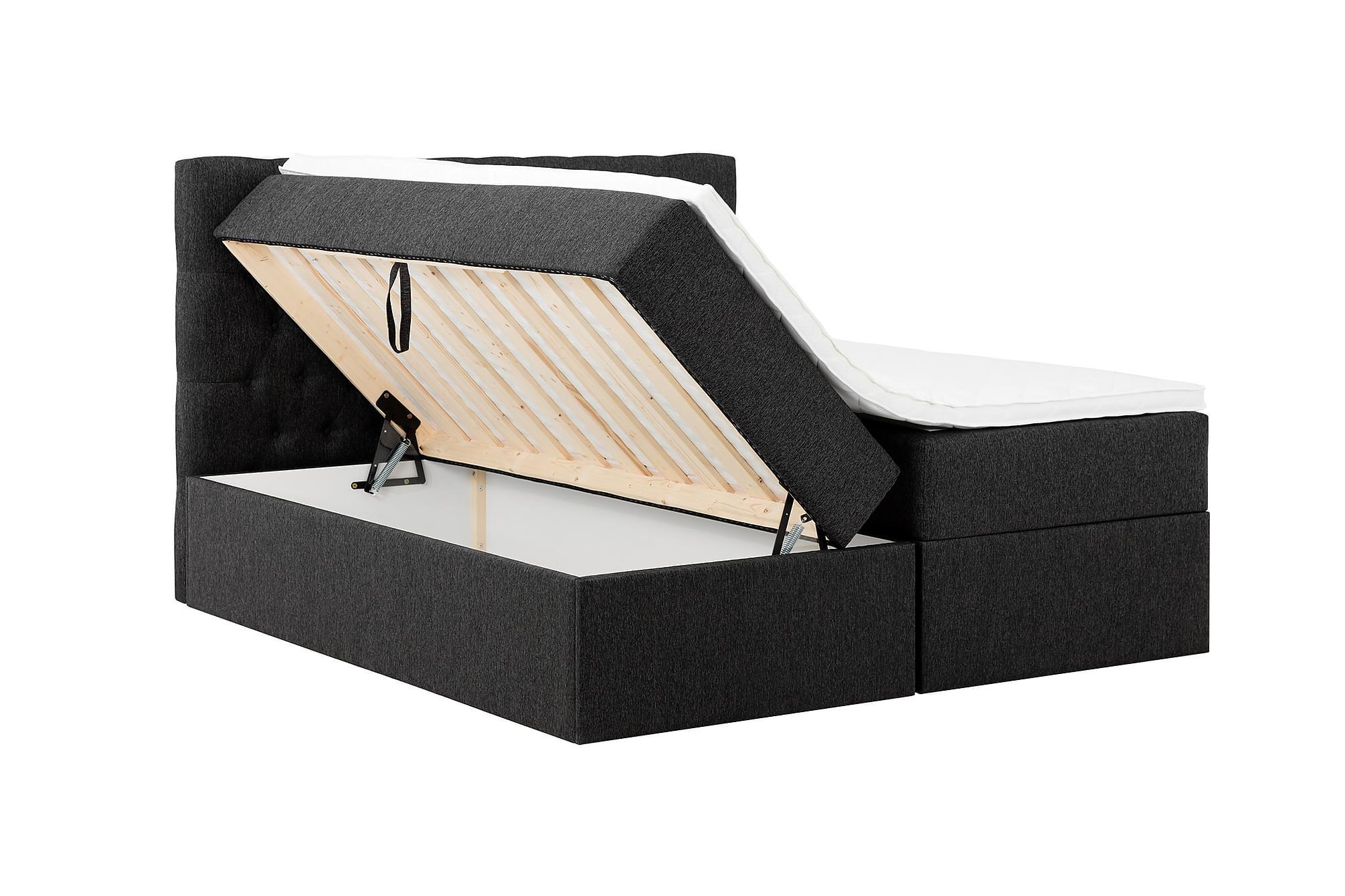 BOXBED 180 Förvaringssäng Svart
