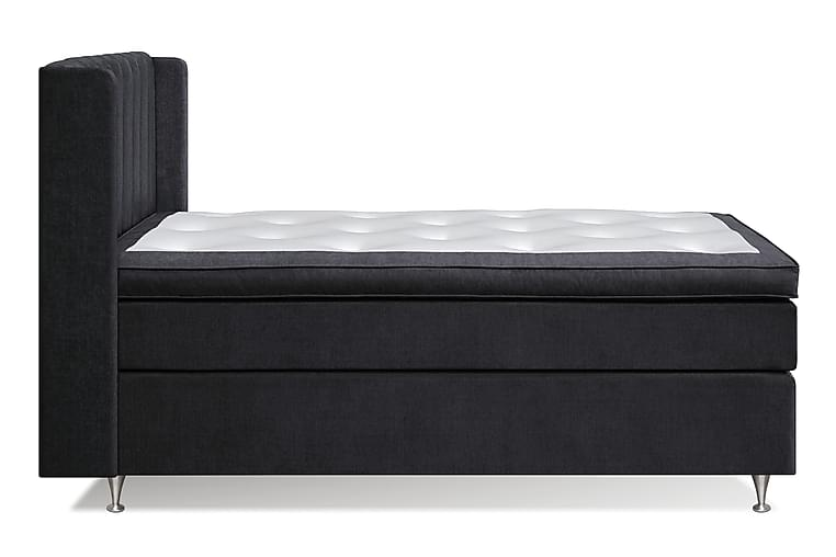 FLORENS Sängpaket Line 140x200 Fast - Svart - Möbler & Inredning - Sängar - Kontinentalsängar