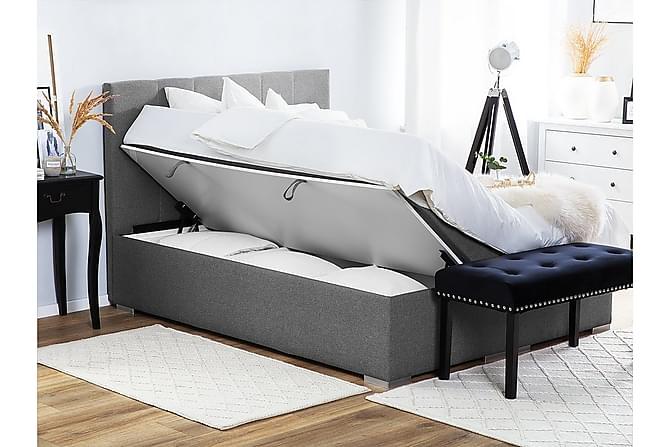 Kontinentalsäng förvaring 160 x 200 cm grå LORD - Möbler & Inredning - Sängar - Kontinentalsängar
