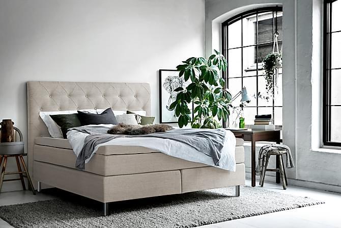 RENEMO Kontinentalsäng 180x200 Beige - Möbler & Inredning - Sängar - Kontinentalsängar