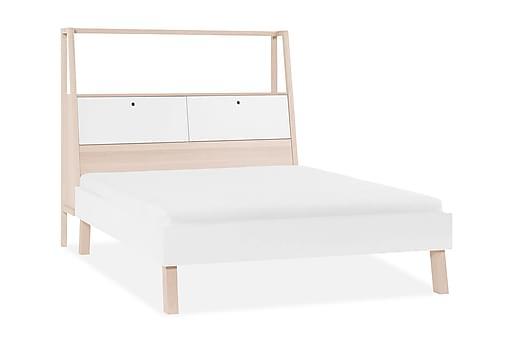 SPOT Sänggavel 180x200 cm Trä/Natur/Vit, Ramsängar thumbnail