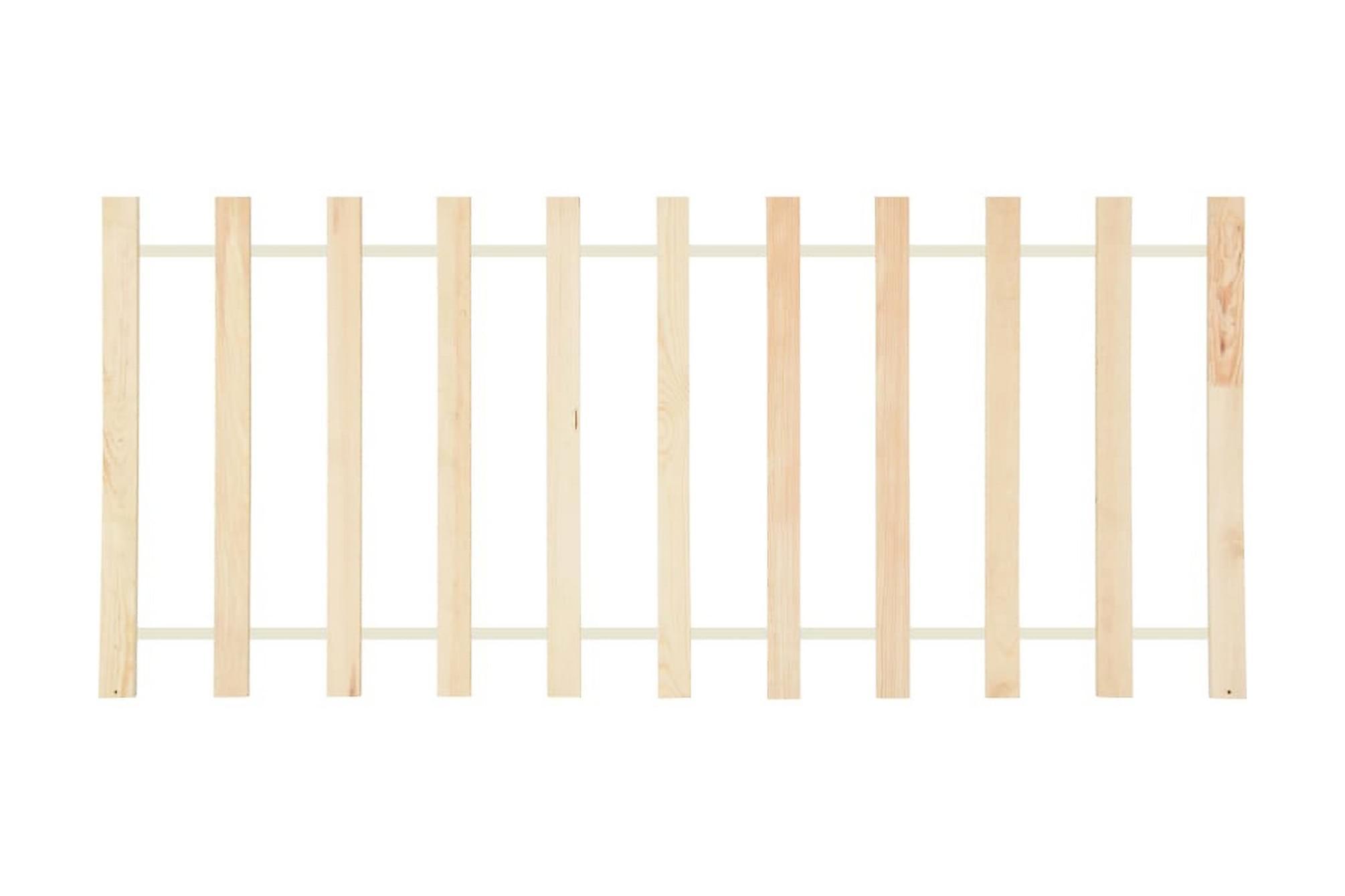 Ribbotten med 11 ribbor rullbar 70x200 cm massiv furu, Ribbottnar