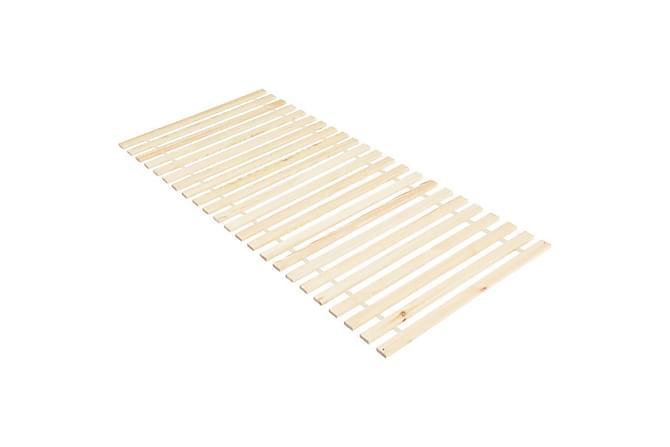 Ribbotten med 23 ribbor rullbar 80x200 cm massiv furu - Brun - Möbler & Inredning - Sängar - Ribbottnar