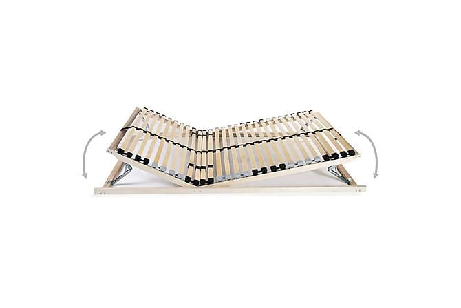 Ribbotten med 28 ribbor 7 zoner 90x200 cm - Brun - Möbler & Inredning - Sängar - Ribbottnar