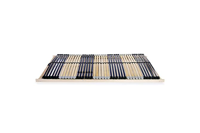 Ribbotten med 42 ribbor 7 zoner 100x200 cm - Blå - Möbler & Inredning - Sängar - Ribbottnar