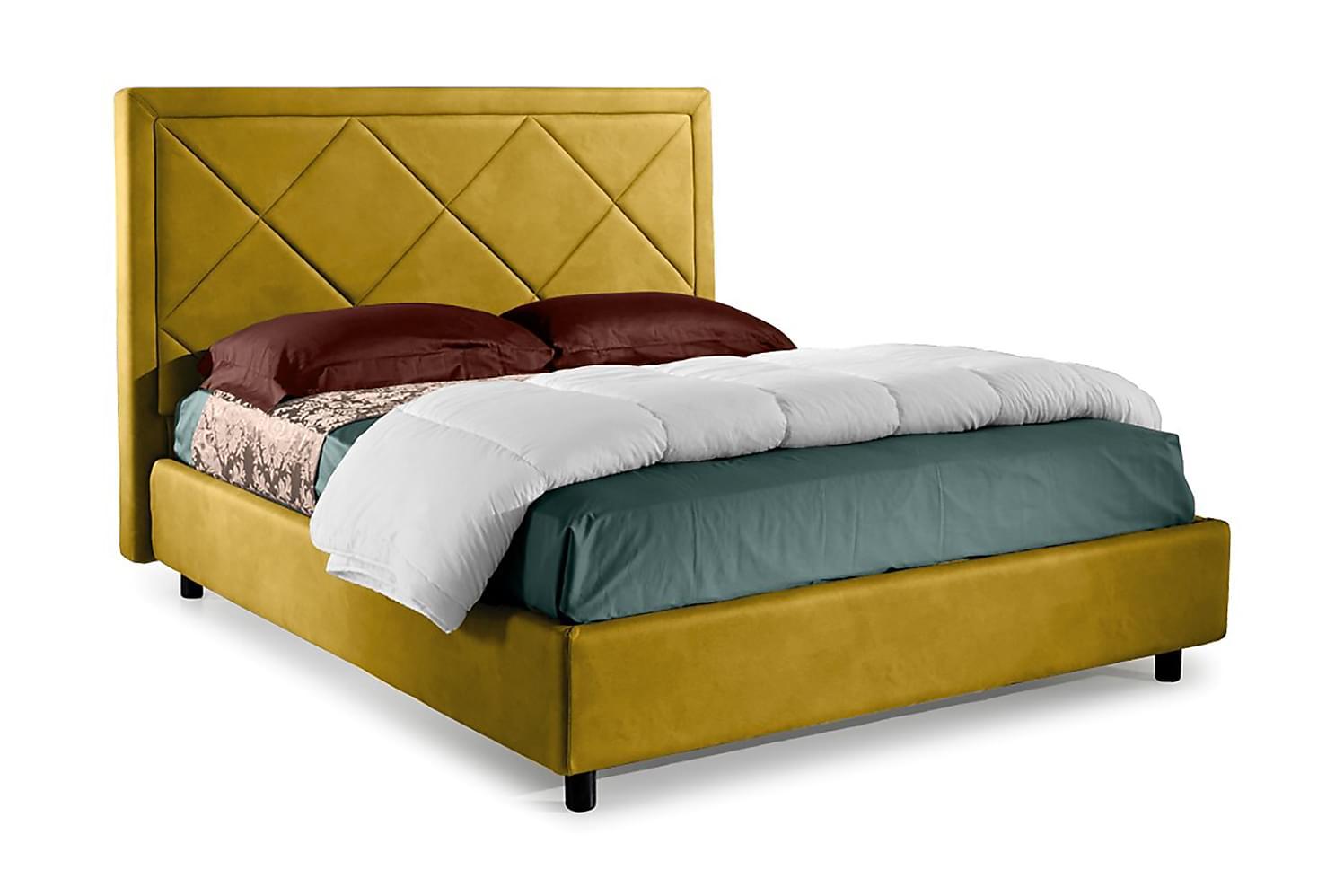 CAMARILLOS Förvaringssäng 172x214 cm Gul, Sängar med förvaring
