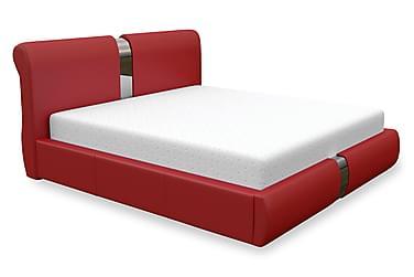 DEMPS Sängram med Förvaring 140 Röd