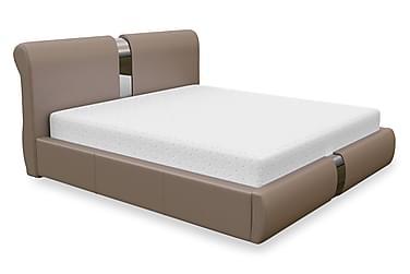 DEMPS Sängram med Förvaring 160 Beige