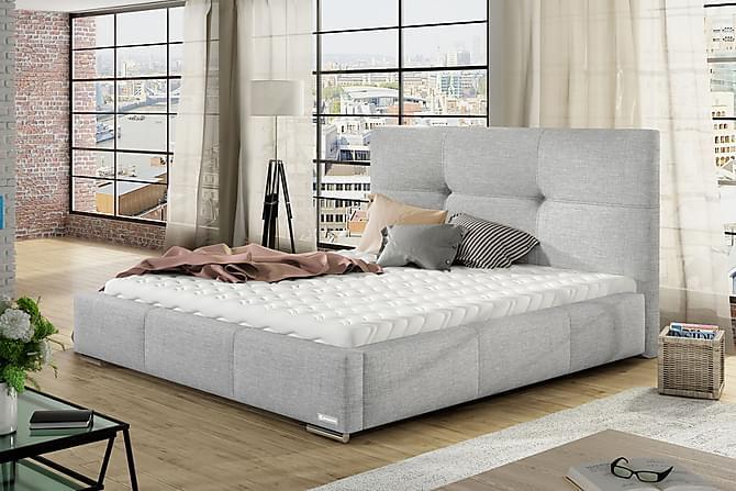 LILY Förvaringssäng 218x96x106 cm - Grå|Vit - Möbler & Inredning - Sängar - Sängar med förvaring
