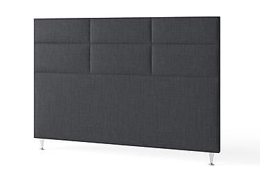 Sänggavel 180 Rutig Mörkgrå