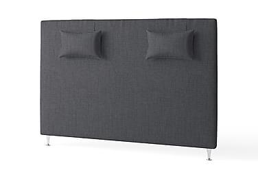 Sänggavel 180 Slät med Kuddar Mörkgrå