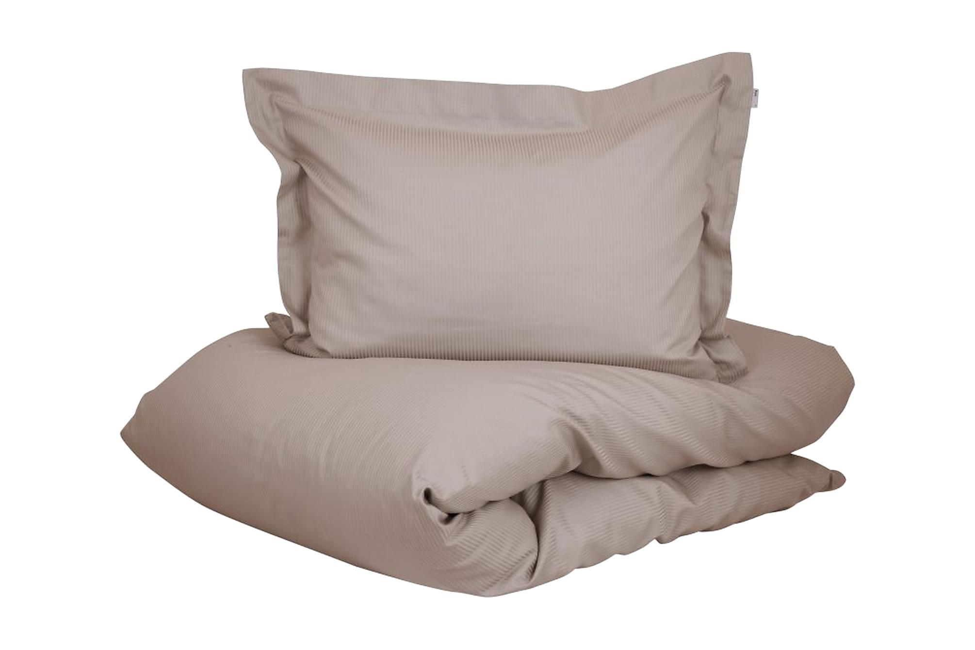 ALDERNEY Bäddset 150x210 cm Satin Beige, Sängkläder
