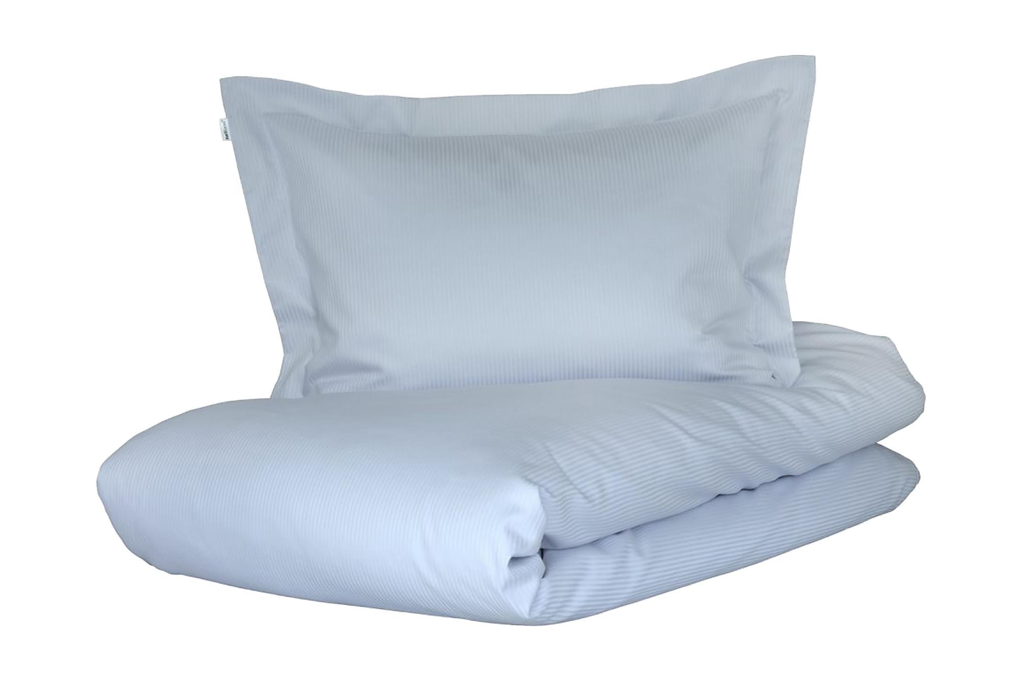 ALDERNEY Bäddset 150x210 cm Satin Ljusblå, Sängkläder