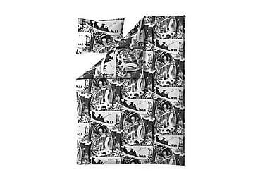 ÄVENTYRSMUMIN Bäddset 150x210 Svart/Vit