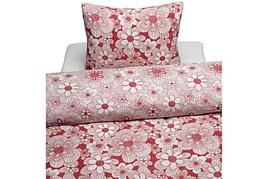 BORGANÄS Flowery Bäddset 2-dels Röd