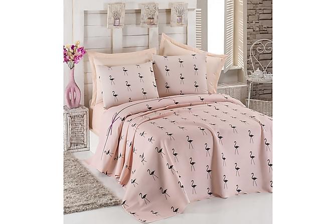 EPONJ HOME Överkast Enkelt 160x235+Lakan+Örngott Rosa - Inomhus - Sängar - Sängkläder