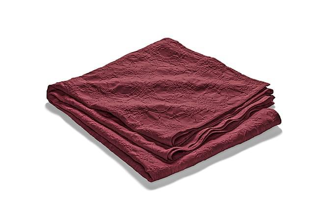 FIONA Överkast 180 Stentvättad Mönstrad Bordeaux - Möbler & Inredning - Sängar - Sängkläder