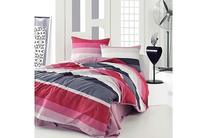 MARIE CLAIRE Bäddset Kingsize 4-dels Röd/Rosa/Svart/Vit - Inomhus - Sängar - Sängkläder