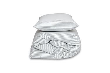 ZEBRA Stripe bäddset, antracit, 150x210/50x60