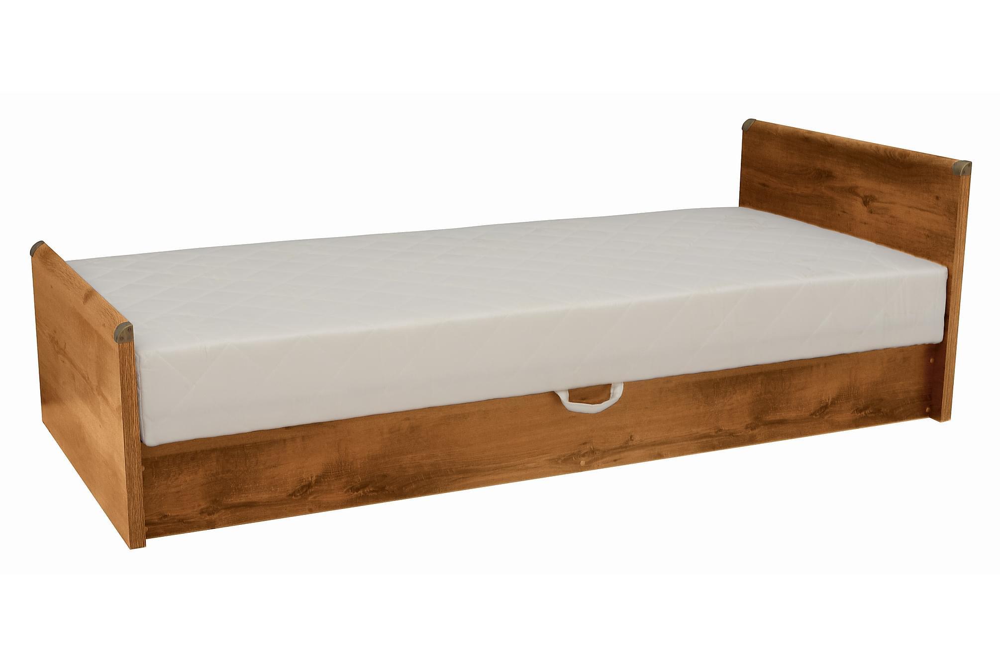 ALDIGE Enkelsäng 90 cm, Sängram & sängstomme