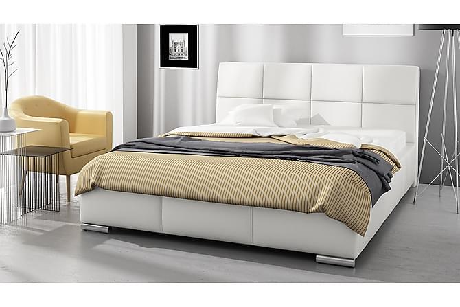 COREY Sängram med Förvaring 180 Vit - Vit - Möbler & Inredning - Sängar - Sängram & sängstomme