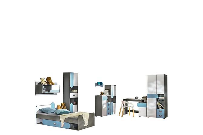 Futuro Sovrumsset - Grafit|Vit|Turkos - Möbler & Inredning - Sängar - Sängram & sängstomme