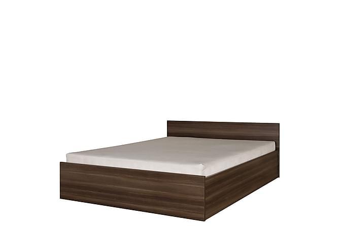 Inez Säng 207x167x71 cm - Brun - Inomhus - Sängar - Sängram & sängstomme