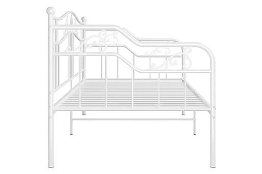 Sängram bäddsoffa vit metall 90x200 cm, Sängram & sängstomme