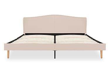 Sängram beige tyg 160x200 cm