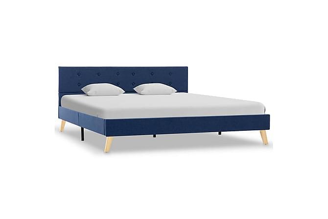 Sängram blå tyg 160x200 cm - Blå - Möbler & Inredning - Sängar - Sängram & sängstomme