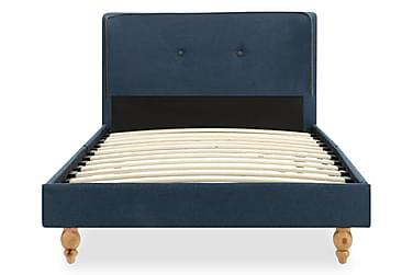 Sängram blå tyg 90x200 cm