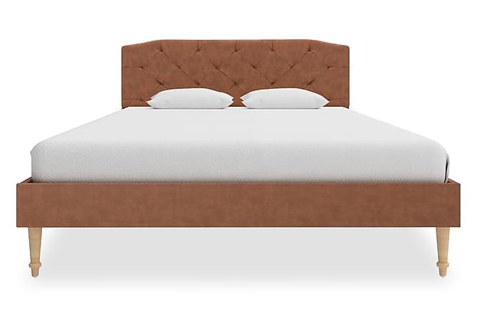 Sängram brun tyg 120x200 cm - Brun - Inomhus - Sängar - Sängram & sängstomme