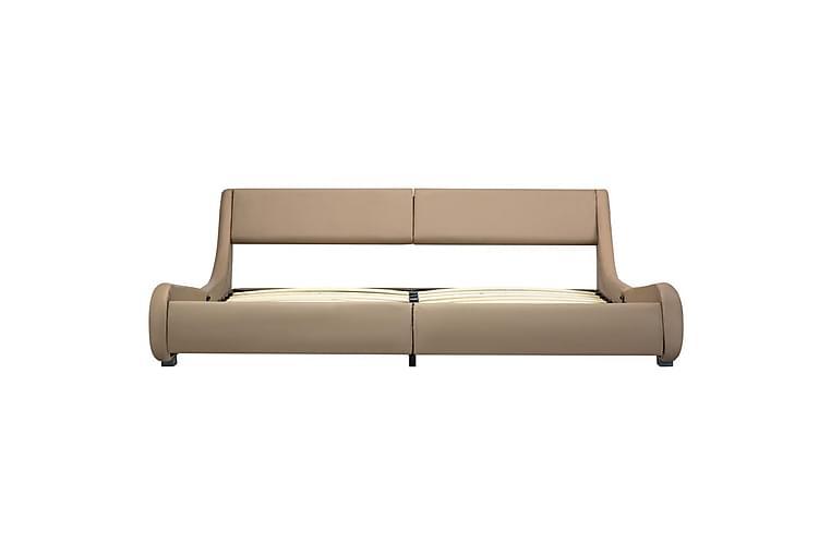 Sängram cappuccino konstläder 180x200 cm - Brun - Möbler & Inredning - Sängar - Sängram & sängstomme