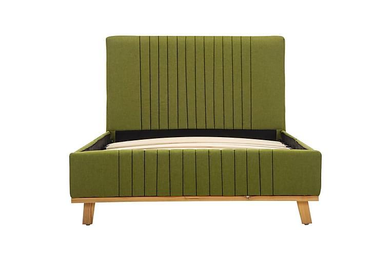 Sängram grön tyg 100x200 cm - Grön - Möbler & Inredning - Sängar - Sängram & sängstomme