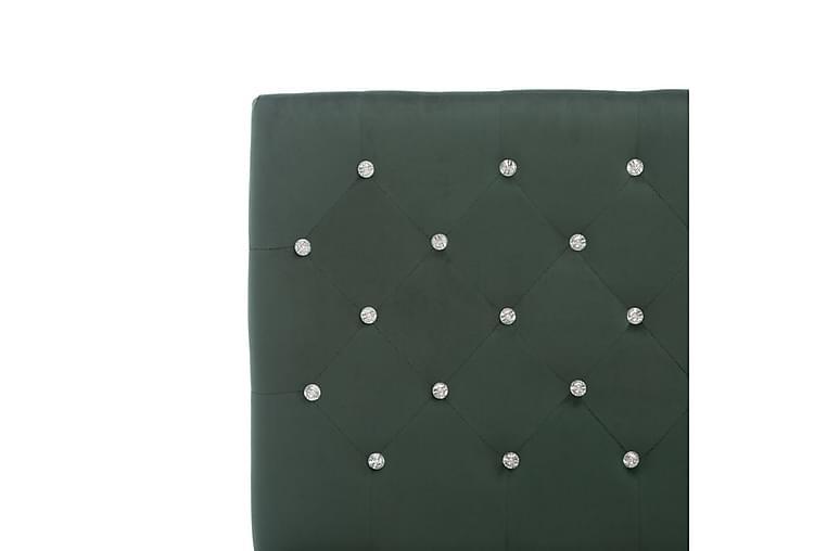 Sängram mörkgrön tyg 180x200 cm - Grön - Möbler & Inredning - Sängar - Sängram & sängstomme