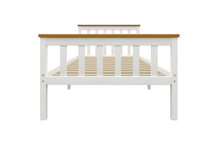 Sängram vit massiv furu 90x200 cm - Vit - Möbler & Inredning - Sängar - Sängram & sängstomme