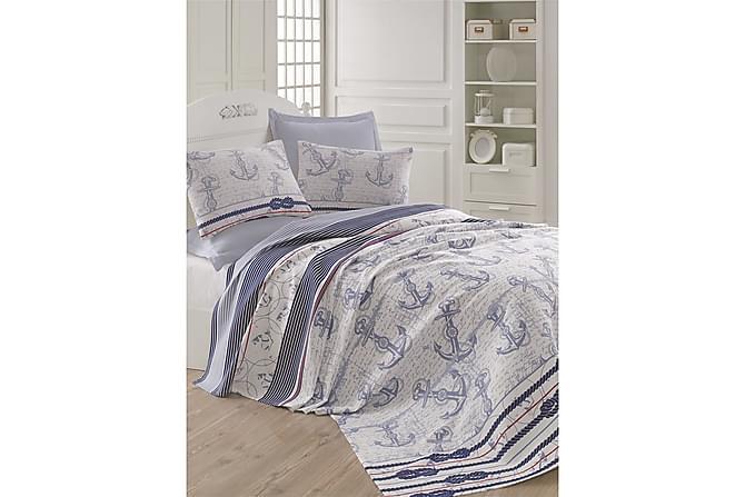 EPONJ HOME Överkast Dubbelt 200x235 Ljusblå/Blå/Vit - Möbler & Inredning - Sängar - Sängtillbehör