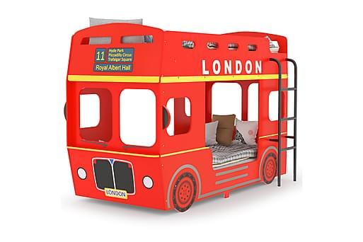 Våningssäng London Bus röd MDF 90x200 cm, Våningssängar thumbnail