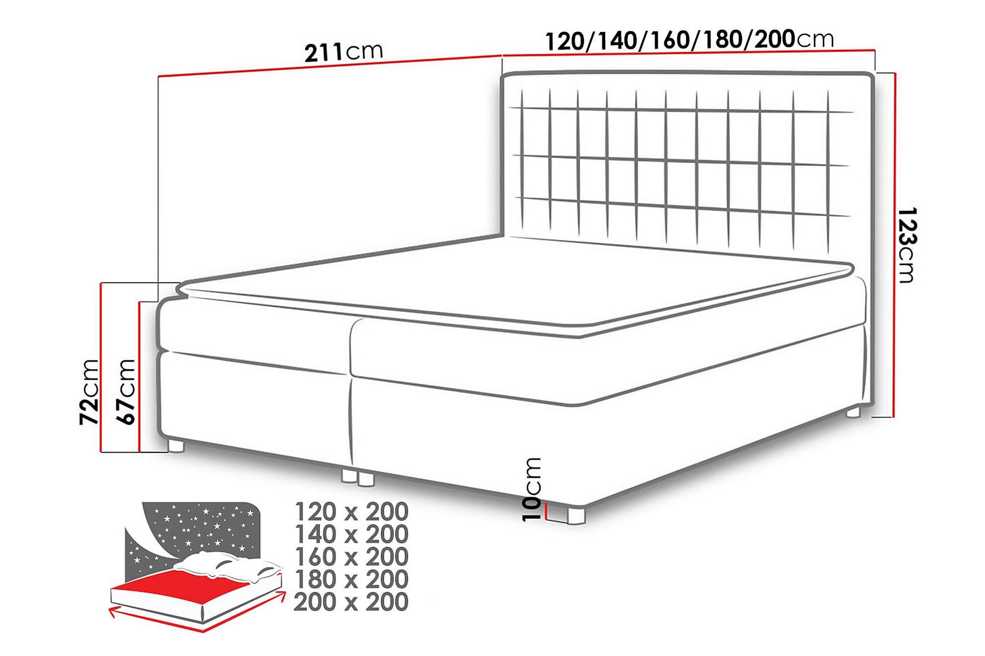 ASADUR Sängpaket 200x200 cm Grön, Sängar