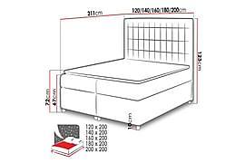 ASADUR Sängpaket 200x200 cm Svart, Sängar