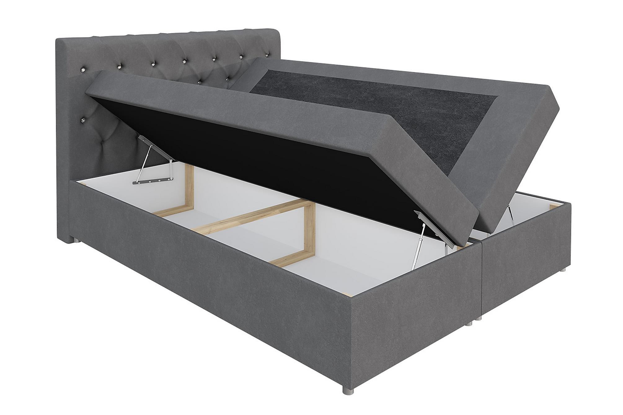 DANNI Sängpaket 120x200 cm Grön, Sängar